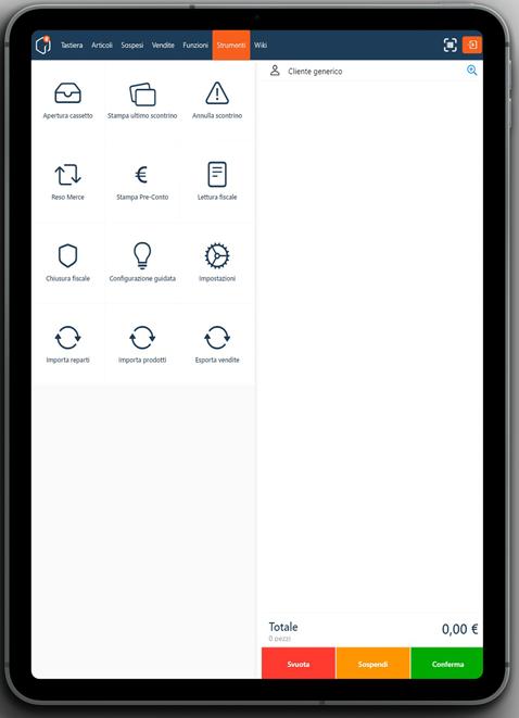 mallbox registratore telematico in un ipad in modalità portrait